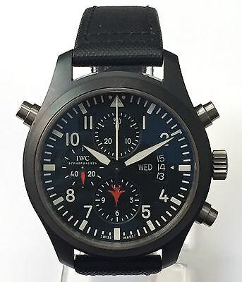 IWC Top Gun Pilot's Double Chronograph 46mm IW3799-01 Men's black watch Swiss