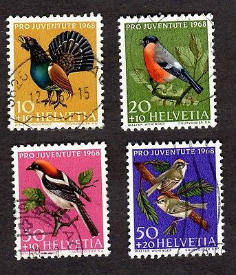 Switzerland: PRO JUVENTUTE 1968 Children's Fund; Birds; compl. set fine used
