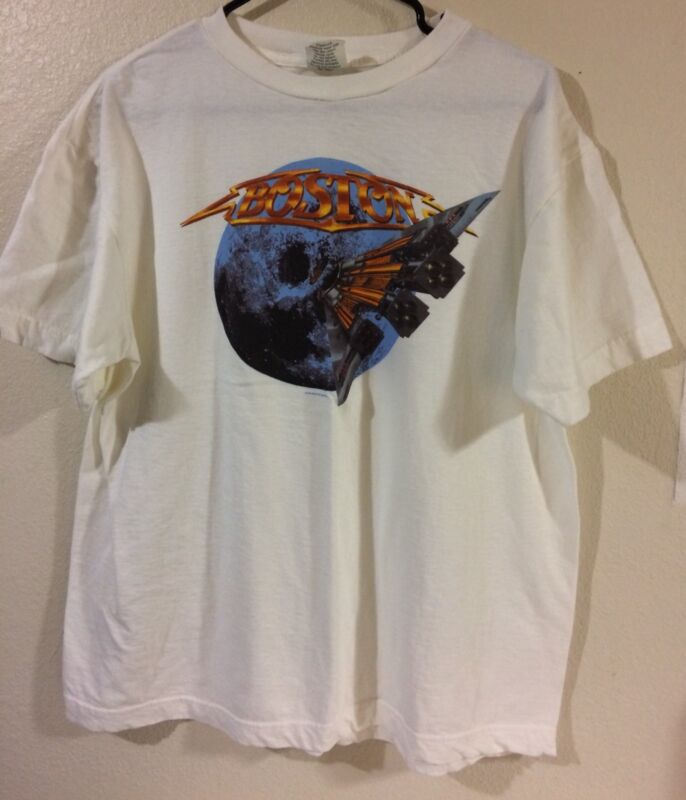 Boston 1995 Walk On Tours Concert T-Shirt Sz Large White 100% Cotton Tour Champs