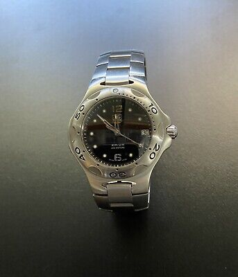 Tag Heuer Kirium Chronograph.midsize 38mm. Black Face immaculate