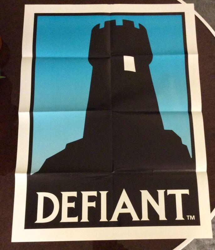 DEFIANT Comic Logo Promo Poster