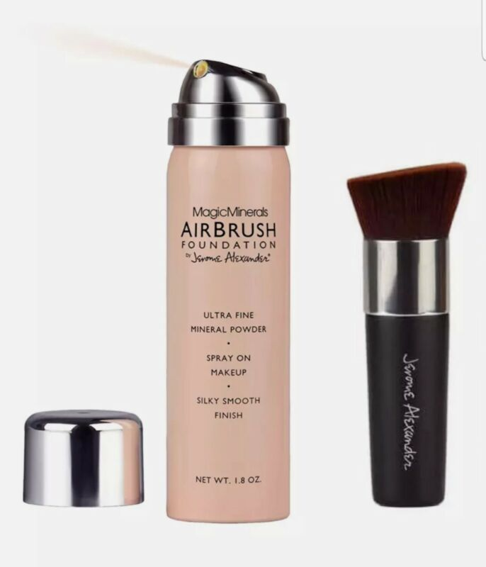 MAGIC MINERALS JEROME ALEXANDER AIR BRUSH FOUNDATION , AUTHENTIC & NEW-Shade Med