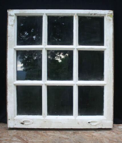 "3 availble 29""x32"" Antique Vintage Old Wood Wooden Sash Window 9 Glass Lite Pane"