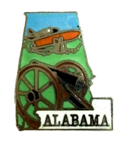 Alabama State Outline Hat Tac or Lapel Pin