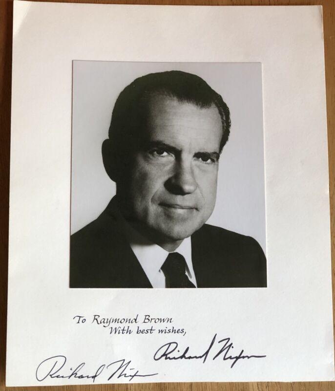 President Richard Nixon Autograph Photo