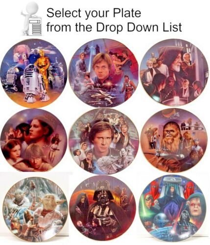 Star Wars Heroes & Villains Hamilton Plate Collection- Your Choice of 10