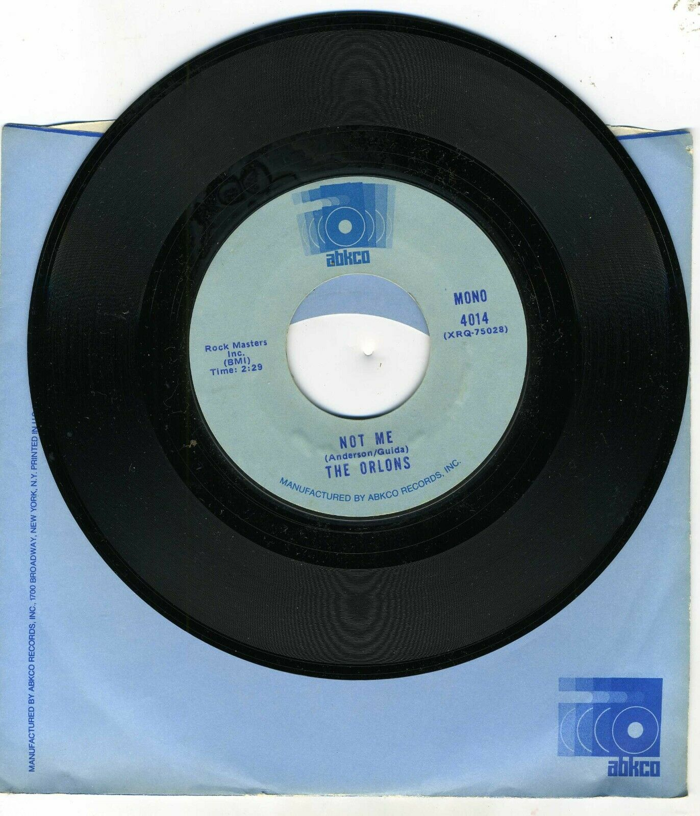 THE ORLONS - South Street / Not Me DOO WOP 7 45 RPM Record - $3.00
