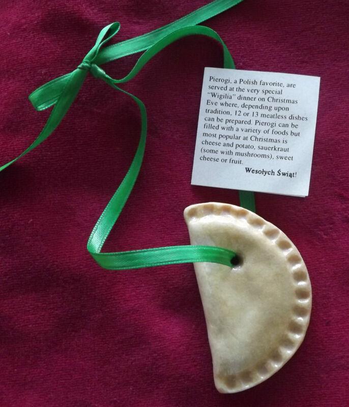 Polish Pierogi Christmas Holiday Ornament Perogy Piroshki Pirozhki Gift