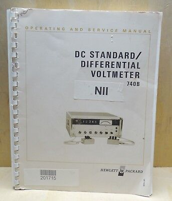 Hp 740b Dc Standard Differential Voltmeter Operating Service Manual