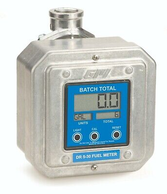 Gpi Digital Fuel Meter Dr 5-30 1 Inch Npt 5 To 30 Gpm For Fuel Transfer Pump