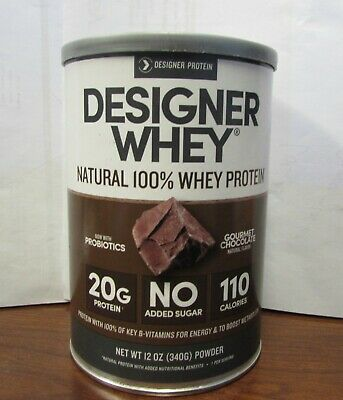 Designer Whey 100% Natural Protein Powder 12oz. Chocolate Sealed Exp: 9/2020 (Designer Whey Chocolate)
