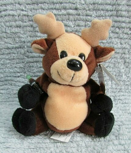 Vintage 1997 Coke Coca Cola Brown Reindeer with Bottle Plush Toy 0152 FREE S/H