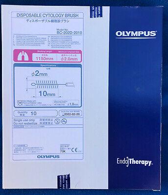 Box Of 10 Olympus Disposable Cytology Brush - Model Bc-202d-2010 - New
