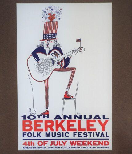 10th Annual Berkeley Folk Music Festival Fourth of July Weekend 1967 Poster