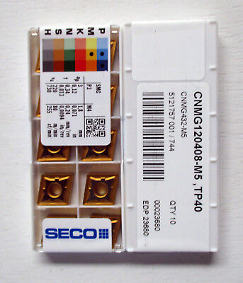Seco CNMG 120408 M5 TP40 Wendeplatten Wendeschneidplatten Carbide Inserts