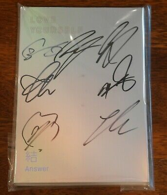 BTS Autographed Signed Love Yourself ANSWER IDOL CD PROMO Album
