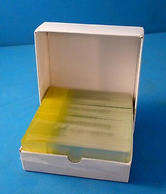 Microscope Slides Blank Flat Labeled New Control Box Of 72 Pkg2