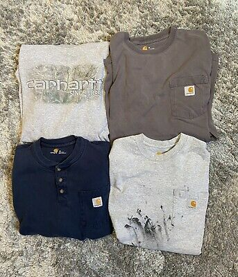 Carhartt Bundle Lot of 4 Size M long sleeve Vintage Workwear Wip Heron Preston