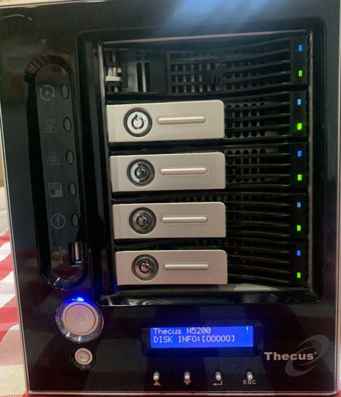Thecus N5200 5-BAY NAS with 5x2TB (10TB)Hard drives, RAID, Server.