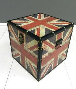 ... ,scatola, contenitore,Un ion Jack,bandiera inglese,in legno,grande