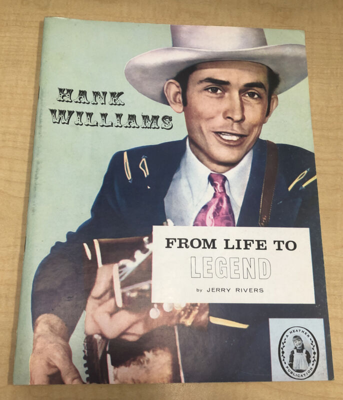 HANK WILLIAMS From Life to Legend 1967 Biography by Jerry Rivers EX Condition