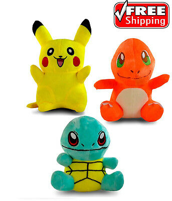 "8"" Pokemon Pikachu Charmander Plush Toy Stuffed Doll"