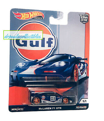 Hot Wheels Car Culture Gulf Oil Racing McLaren F1 GTR 1/64 Brand New HTF 2019