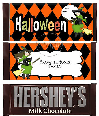 Halloween Candy Bar Labels (Halloween Party Favor Witch Candy Bar Wrappers Labels)
