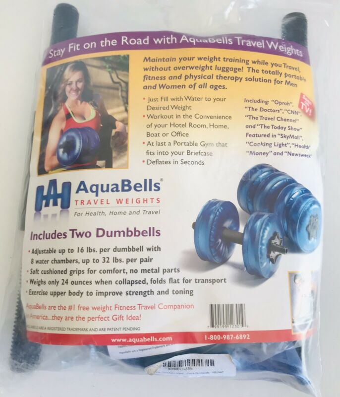 AQUA BELLS TRAVEL Water Weights in Case, For Health, Home AND Travel NEW