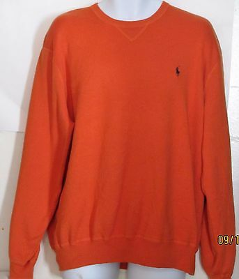 Ralph Lauren Halloween Polo (Ralph Lauren Polo mens size XL orange Halloween long sleeve Shirt Very Nice)