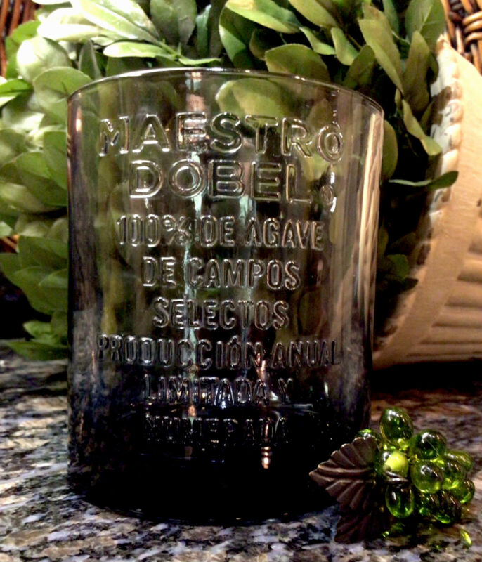 Limited Edition  MAESTRO DOBEL  Tequila Embossed Collector Rocks Glass PRISTINE!