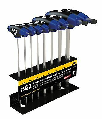 Klein Tools Jth68mb 8pc 6 Metric Ball-end Journeyman T-handle Set With Stand