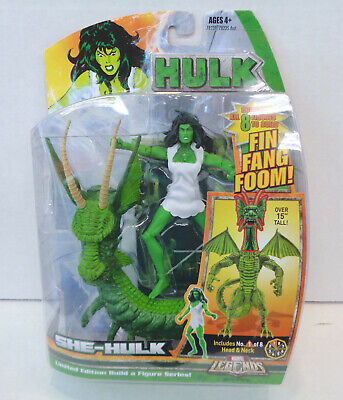 Marvel Legends: She-Hulk Action Figure (2007) Hasbro New Fin Fang Foom BAF
