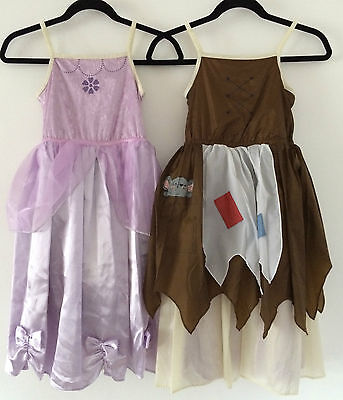 Girls Disney Style Princess Dress Reversible M&S Cinderella Rags to - Reversible Cinderella Kostüm