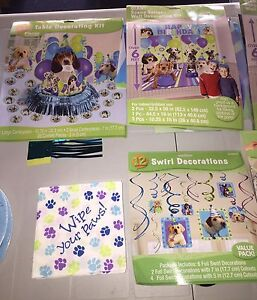 Party pups theme birthday decorations first birthday kids party