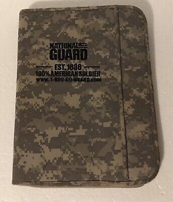 Army National Guard Zip Up Folder Portfolio Organizer Digital Camouflage