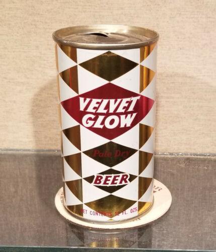 1970 MINTY VELVET GLOW STEEL PULL TAB BEER CAN MAIER LOS ANGELES CALIFORNIA