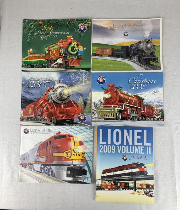 LOT OF 6 VINTAGE LIONEL TRAIN CATALOGS 2006-2009 MODEL TRAIN CATALOGS