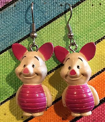 Winnie The Pooh Pig (PIGLET Earrings Disney Winnie the Pooh Friends Stainless New)