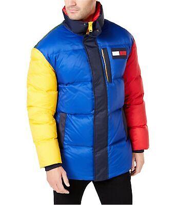 Tommy Hilfiger Mens Color Block Puffer Jacket, multicoloured, X-Large