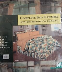 King Comforter New Complete Bed Ensemble  - $80