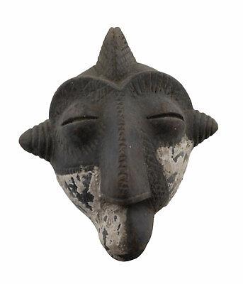 Masquette Ritual Hut Terracotta Trick Fetish Diminutive Art African 6346