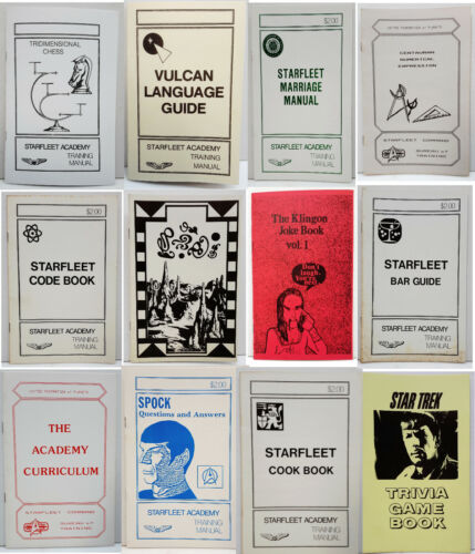 Vintage Star Trek Fanzine Training Manual/Booklet Collection—> Your Choice of 12