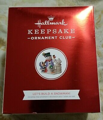 Let's Build a Snowman - 2018 Hallmark Keepsake Club ornament (Member Exclusive)