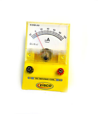 Analog Ammeter Dc Current Meter 0 - 100 Microamp 2 Microamp Resolution