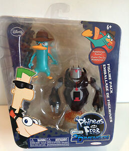 Disney Phineas and Ferb Action Figures set *BNIB* Agent P & Normbot