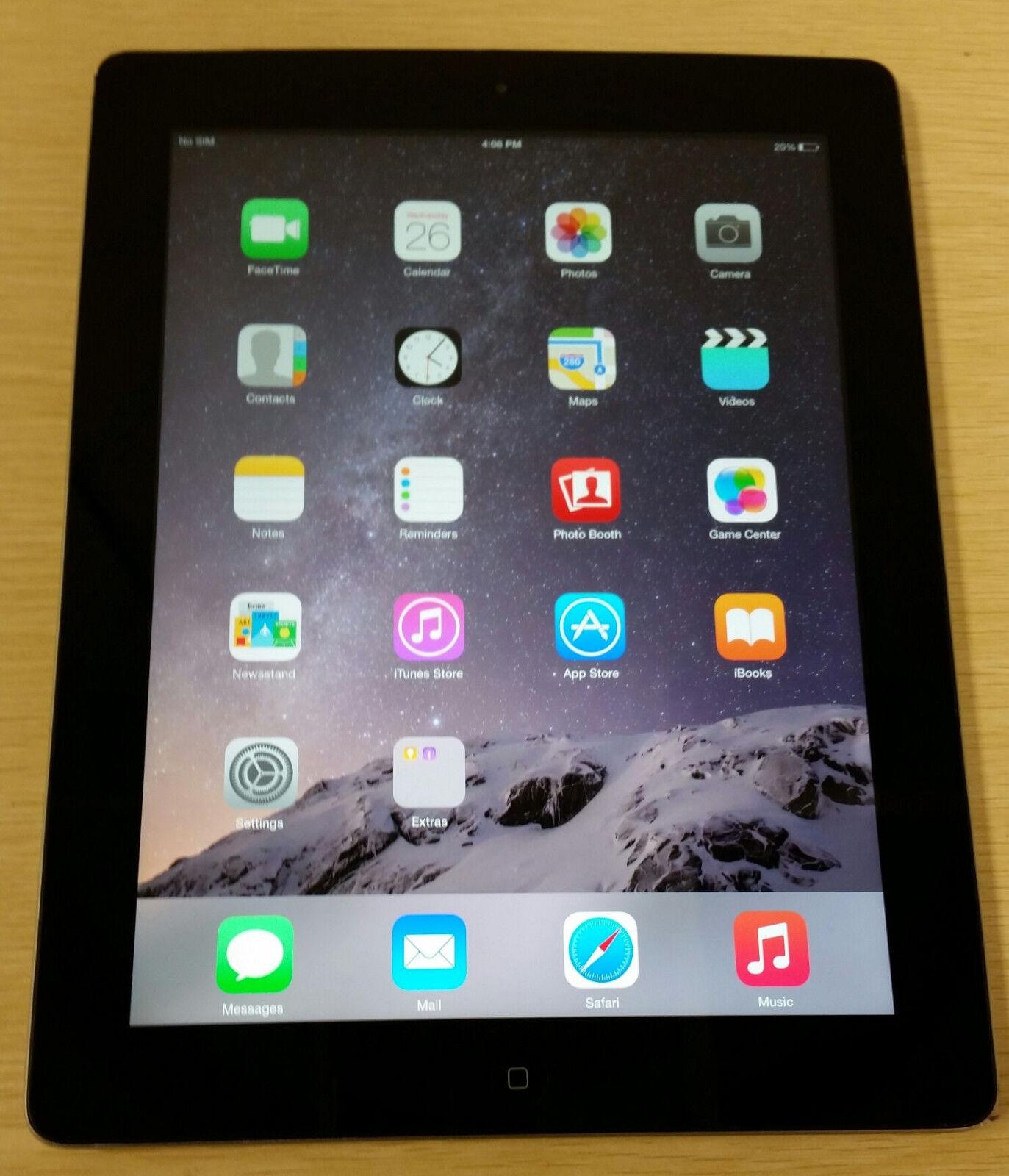 apple ipad 4th gen 16gb retina display wi fi black. Black Bedroom Furniture Sets. Home Design Ideas