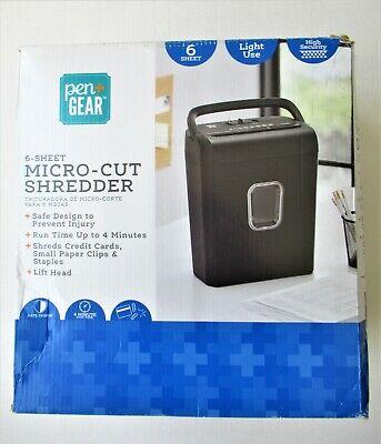 Pen Gear Paper Credit Card Cd Dvd Shredder 6-sheet Micro Cut Paper Destroyer