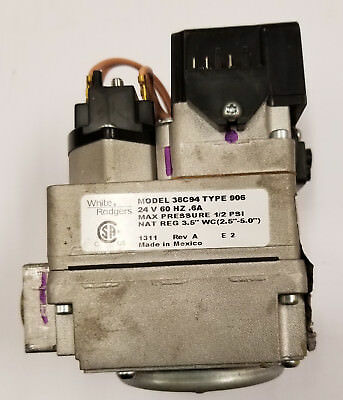 36c94 Type 906 White Rodgers Nat Gas Standing Pilot Gas Valve 24v Tested