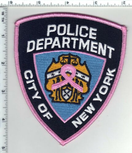 Breast Cancer Awareness New York Police Uniform Patch (may be worn in October)